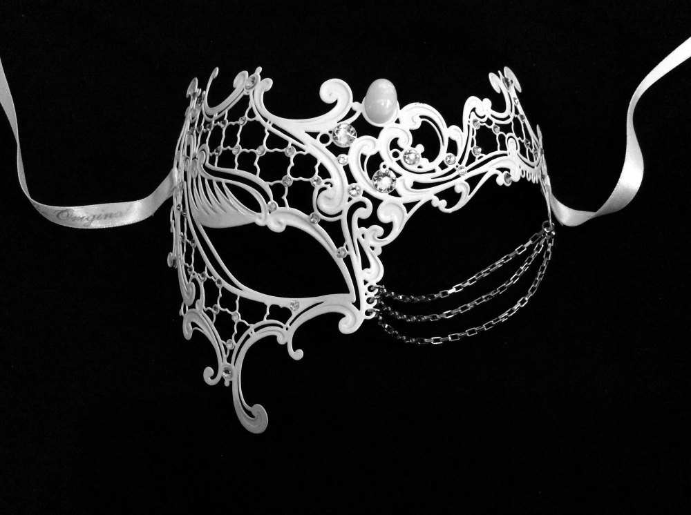 Occhialino Lux Filigree Mask - White