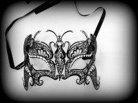 Deluxe Butterfly Strass Venetian Filigree Mask