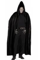 Dark Warrior Black Hooded Cape