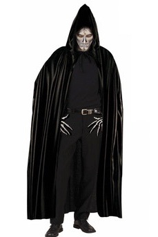 Dark Warrior Black Hooded Cape
