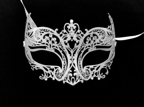 Angel Filigree Masquerade Mask - Swarovski Edition