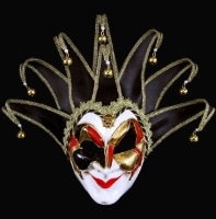 Joker Mezzo Full Face Masquerade Mask - Black