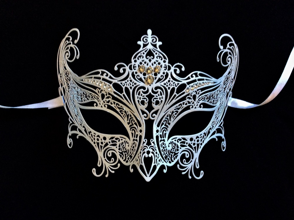 Elegance Filigree Mask - Bianca White