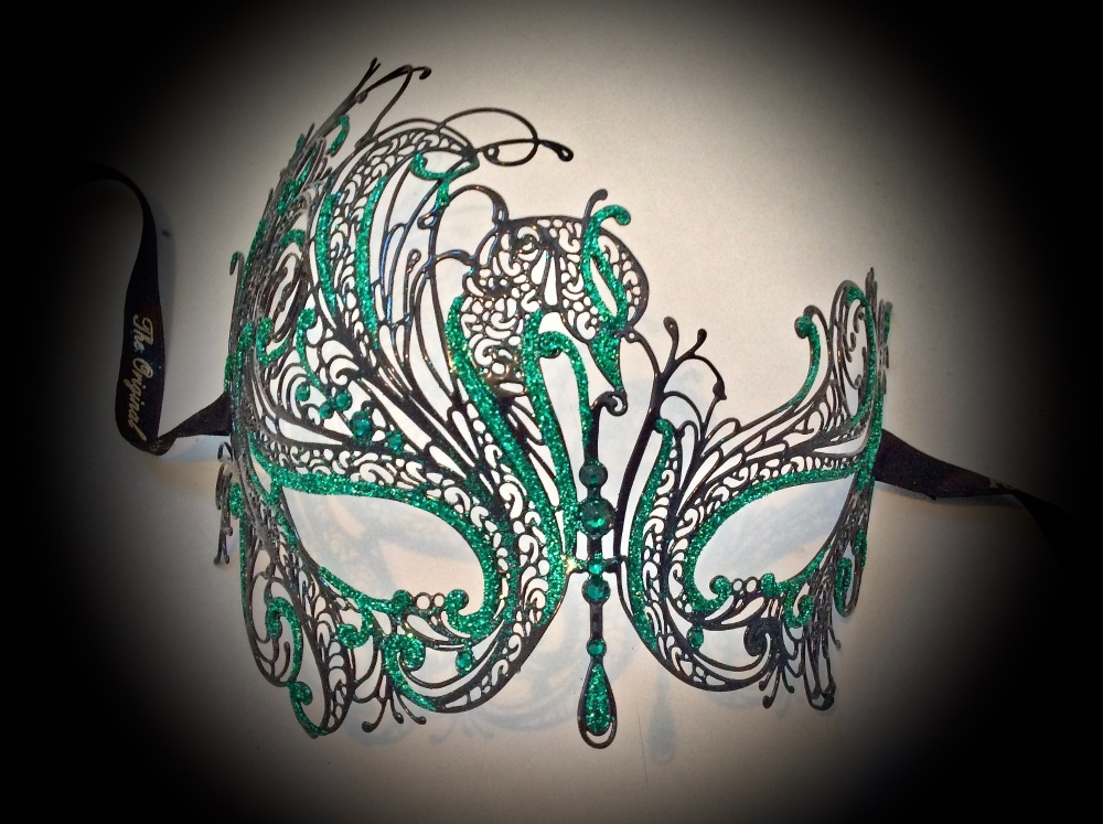 Mireille Filigree Mask - Green