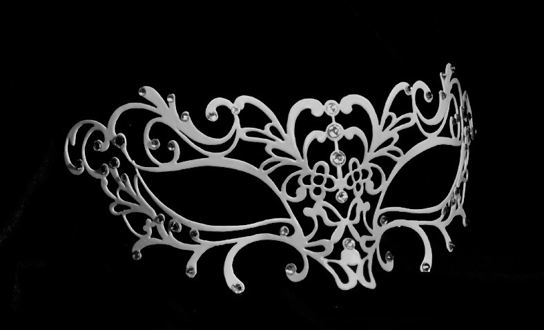 Donna Filigree Mask - White