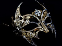 Elegance Barocca Filigree Mask - Gold
