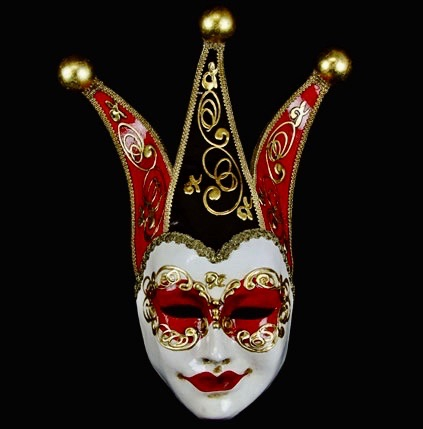 Volto Re Joker Mask - Black & Red