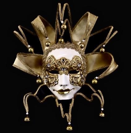 Joker Velo Masquerade Mask - Black