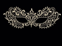 Fifty Shades Darker Papier-Mache Lace Masquerade Mask - Silver