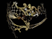 Occhialino Lux Filigree Mask - Gold Edition