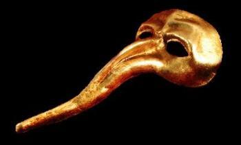 Zanni Masquerade Mask - Gold