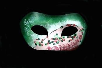 Commedia Campanile Masquerade Mask