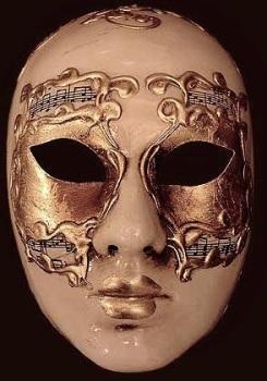 Volto Gold Female Masquerade Face Mask