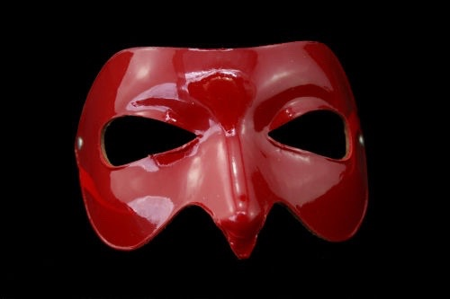 Tease Leather Mask - Red