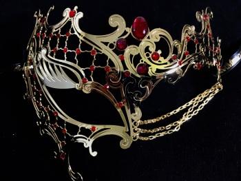 Occhialino Lux Filigree Mask - Gold Plus