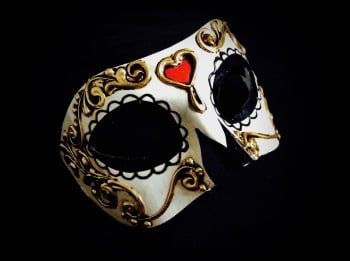 Bi-Colour Venetian Mask
