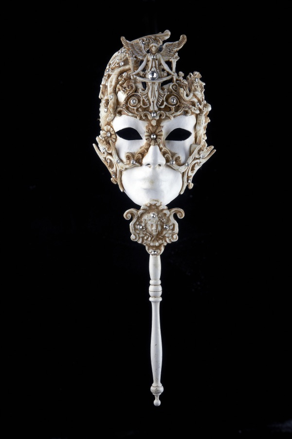 Venetian Masquerade Mask On A Stick - Ossessione