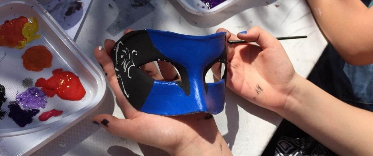image of a masquerade mask being made