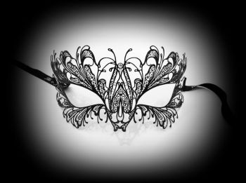Blumen Strass Filigree Mask