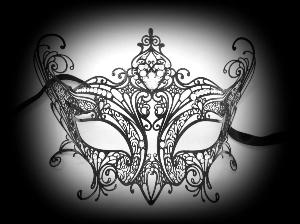 Elegance Filigree Mask - Nero