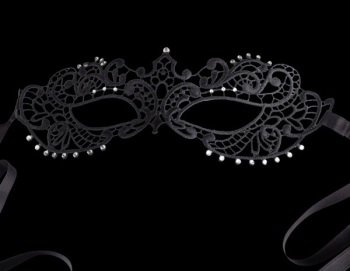 Fifty Shades Darker Papier-Mache Lace Masquerade Mask - Black