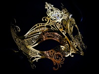 Elegance Filigree Mask - Gold