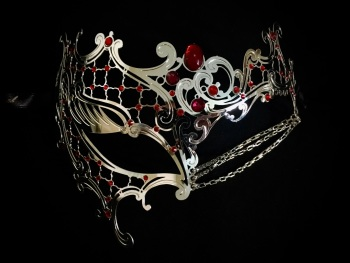 Occhialino Lux Filigree Mask - Silver Plus
