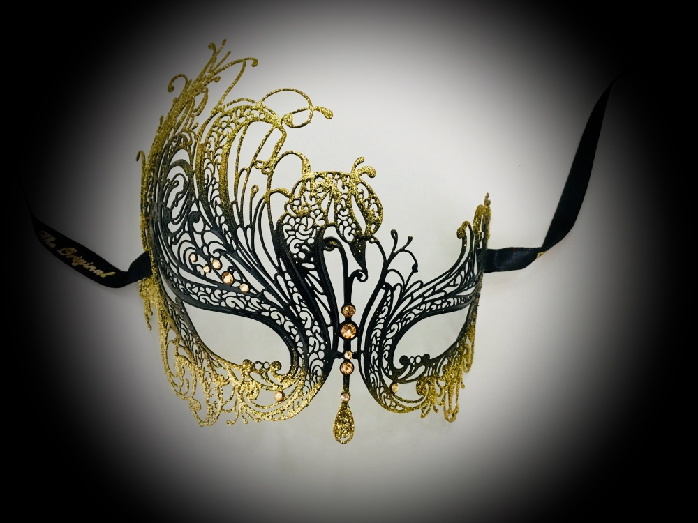 Autumn Night Luxury Venetian Masquerade ball Mask