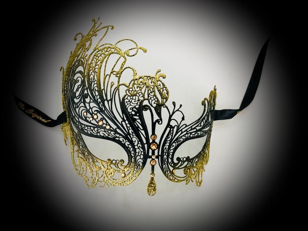 Autumn Night Luxury Venetian Masquerade ball Mask