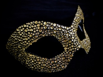 Gondola Luxury Masquerade Ball Mask - Rose Gold