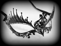 Dark Angel Filigree Lace Masquerade Mask