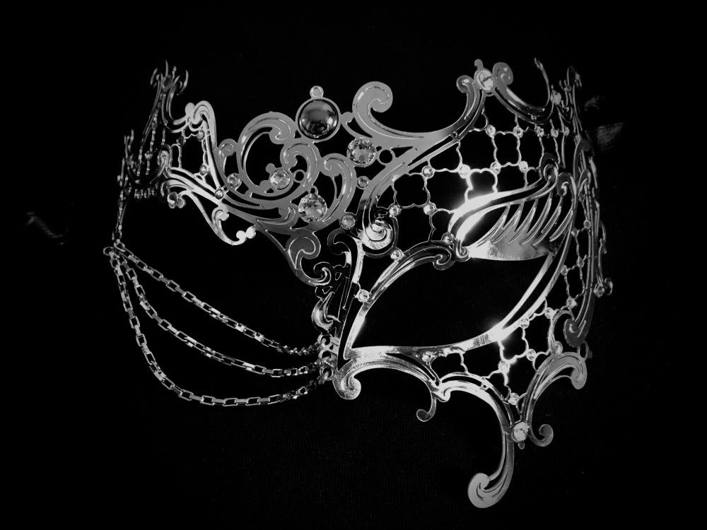 Occhialino Lux Filigree Mask - Silver Edition