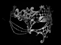 Occhialino Lux Filigree Mask - Silver Edition