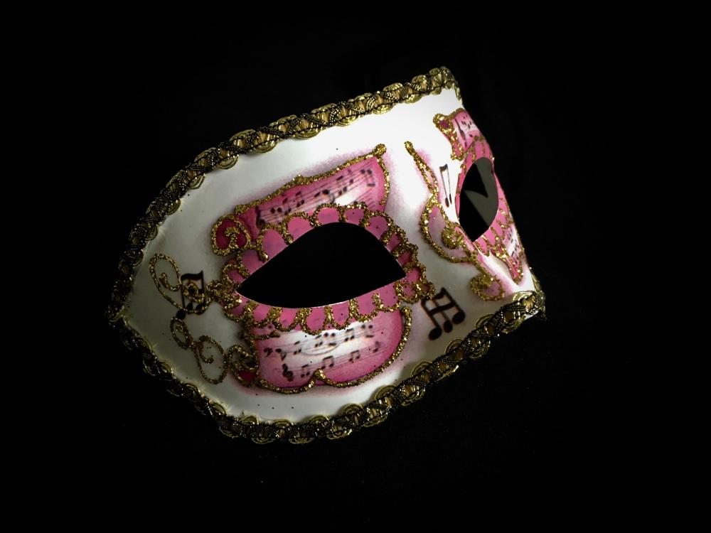 Pergamena Music Masquerade Masks - Pink