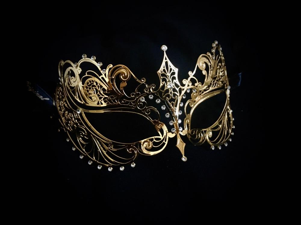 Berenice Filigree Venetian Masquerade Mask - Gold Edtion