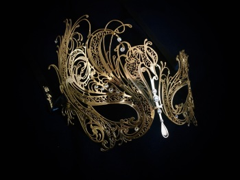Mireille Filigree Mask - Gold