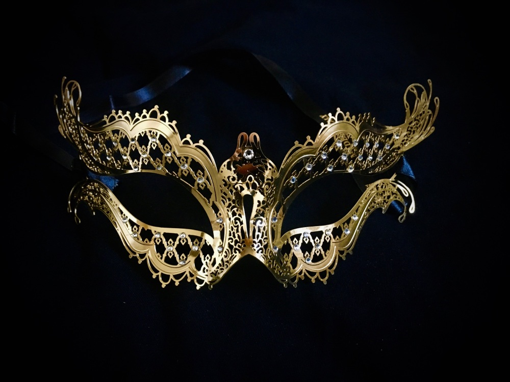 Mon Amour Strass Gold Filigree Mask - Vampire Diaries