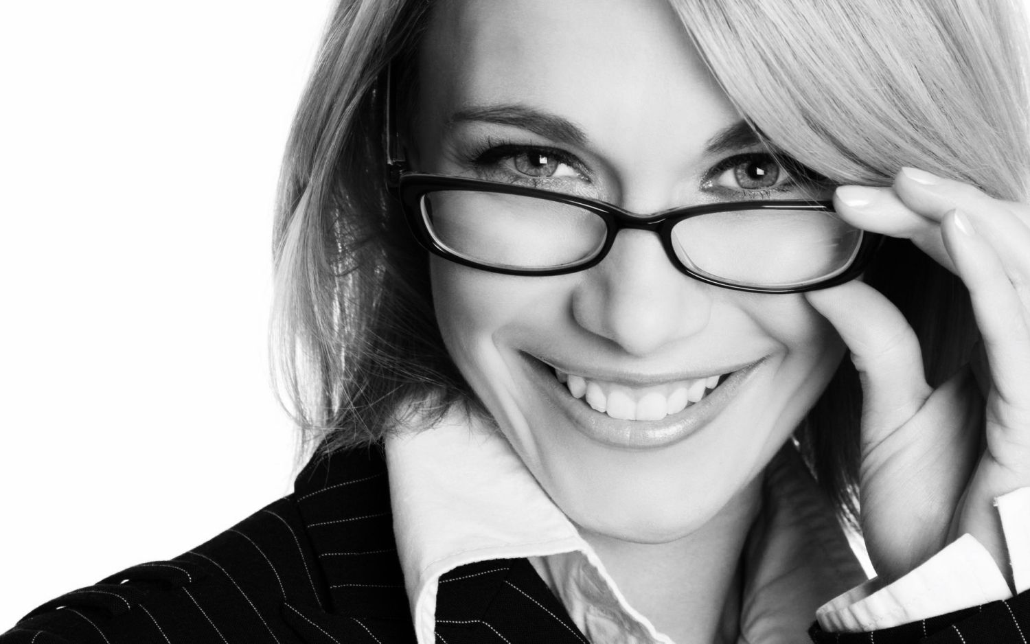 image of a woman wearing glasses