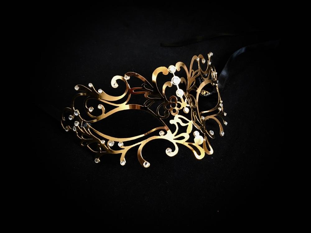 Ora Venetian Filigree Metal Mask