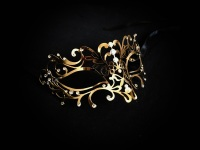 Ora Venetian Filigree Metal Mask