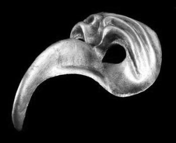 Naso Turco Masquerade Mask - Silver