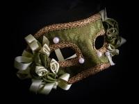 Rococo Masquerade Mask - Green