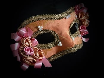 Rococo Venetian Mask - Pale Terracotta