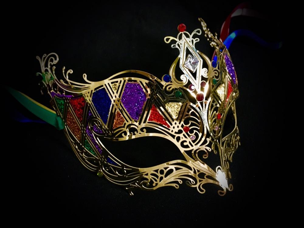 Rombi Aurora Lady Masquerade Masks - Gold