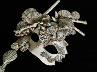 Affetto Macrame Luxury Venetian Masquerade Ball Mask
