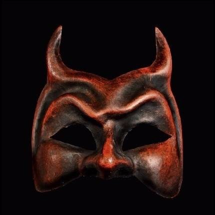 Red halloween devil (diavolo)  masquerade mask for a man or woman