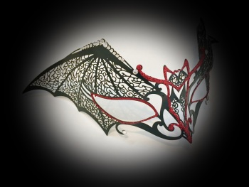 Dark Temptation Filigree Mask - Nero