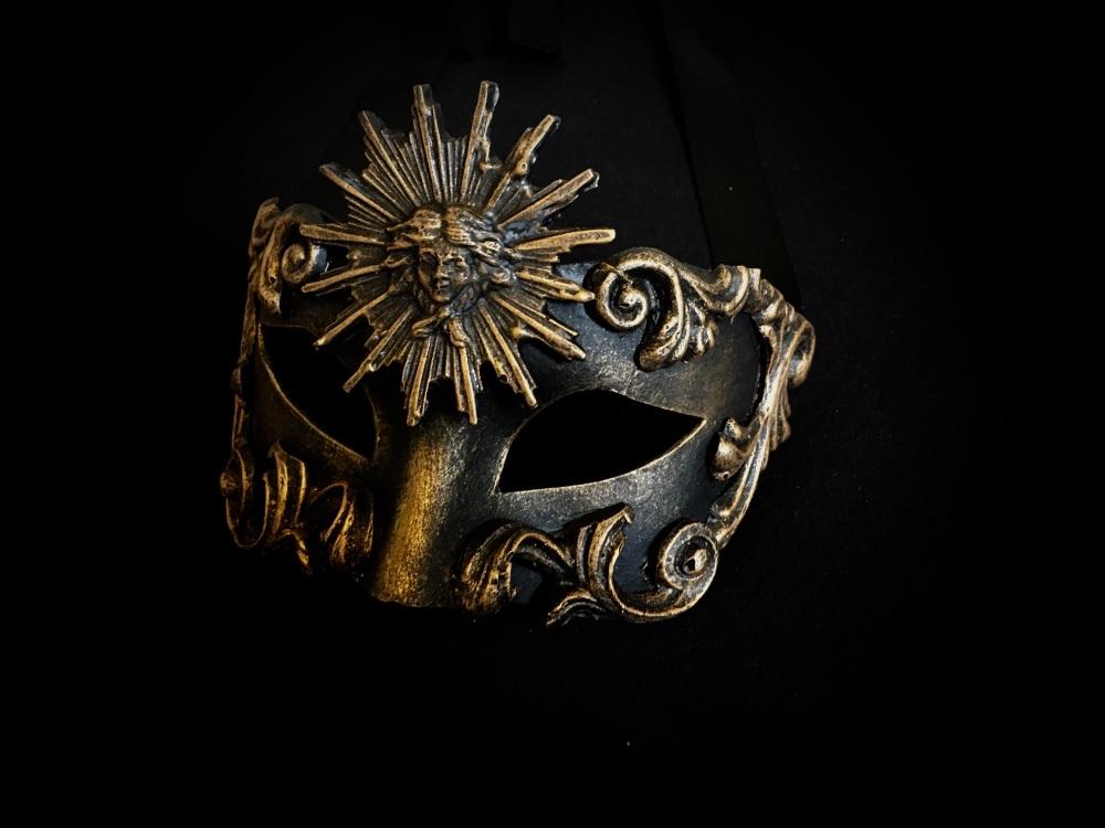 Sole Luxury Venetian Masquerade Ball Mask - Bronze