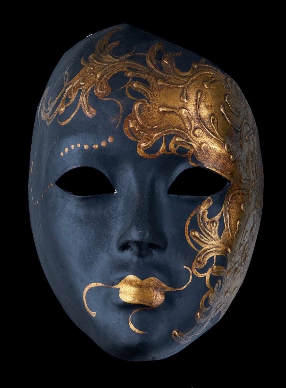 Flame Venetian Masquerade Mask - Nero