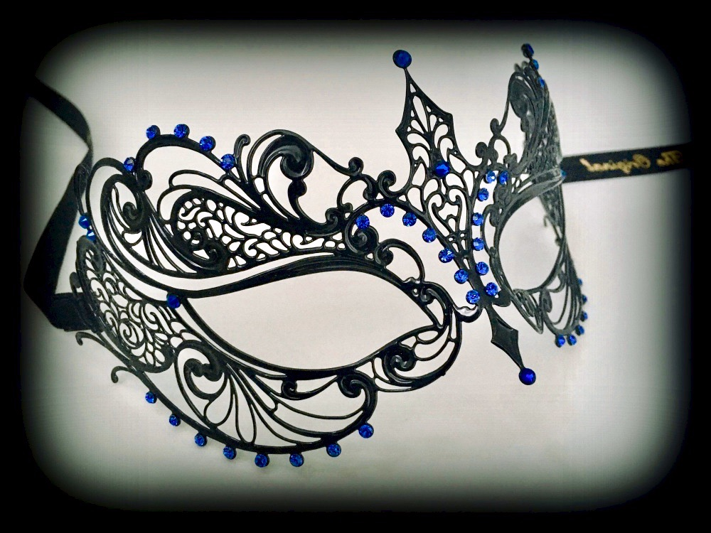 Berenice Lux Filigree Mask - Blue Passion Edition